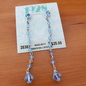 1928 crystal earrings